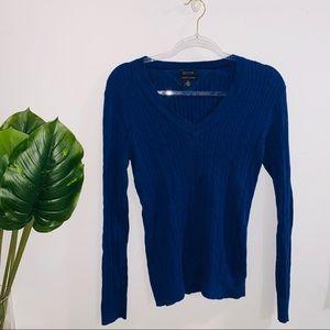 Tommy Hilfiger Navy Blue Vneck Sweater Medium